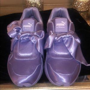 Fenty by Rihanna purple bow sneakers